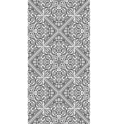 seamless abstract tribal black-white pattern hand vector image