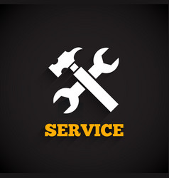 service icon with long shadow vector image