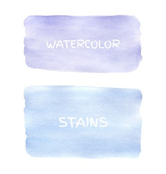 Set of watercolor stains vector image