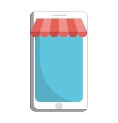 Smartphone device ecommerce isolated icon vector