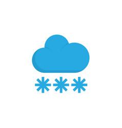 Snowy flat icon symbol premium quality isolated vector