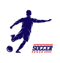 soccer and football player man logo vector image