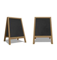 street chalk board set advertisement outdoor vector image