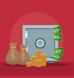 strongbox and savings vector image