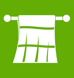 towel on a hanger icon green vector image