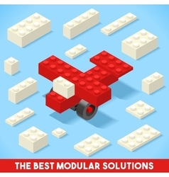 Toy Block Plane Games Isometric vector