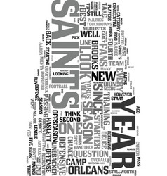Year of the saints text word cloud concept vector