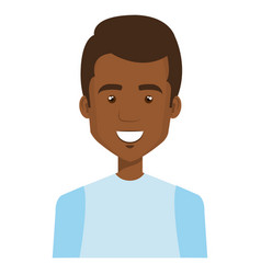 Young black man casual avatar vector
