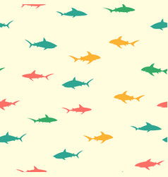 colorful pattern with sharks vector image