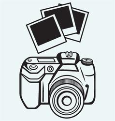 Digital photo camera vector