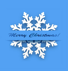 greeting card - winter snowflake vector image vector image