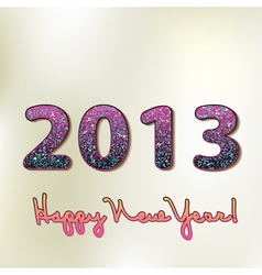 Happy new year 2013 colorful design EPS8 vector image vector image