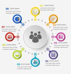infographic template with office icons vector image