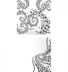 music backdrops vector image