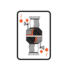 poker playing card jack diamond vector image