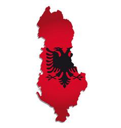 albania flag amp map vector image