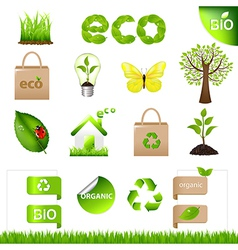 Collection Eco Design Elements And Icons vector image