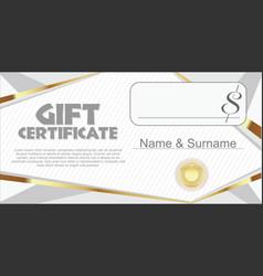 gift certificate retro design template vector image
