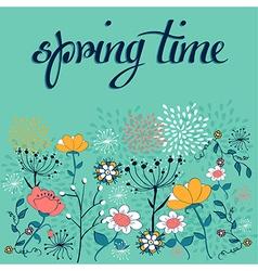 Spring time flower background vector image vector image