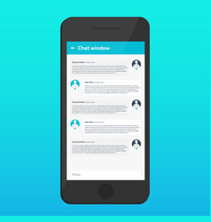 chat interface sms messenger ui ux material vector image