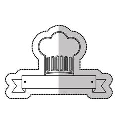 Chef hat symbol vector image vector image