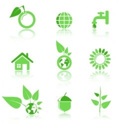 environmental icons vector image vector image