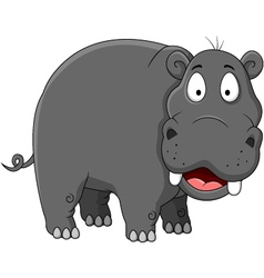 Hippopotamus cartoon vector