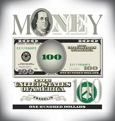 Money 100 fade vector