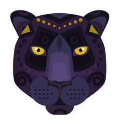 black panther puma head logo decorative vector image vector image