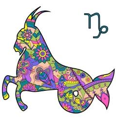 Capricorn zodiac sign vector image vector image