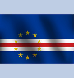 flag of cape verde - vector image
