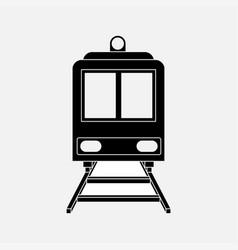 icon train railway vector image vector image