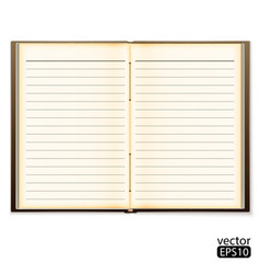 open old notebook isolated on white vector image vector image