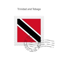 Trinidad and Tobago Flag Postage Stamp vector image vector image