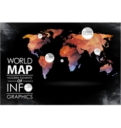 World Map and typography vector image