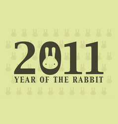 2011 year rabbit vector image