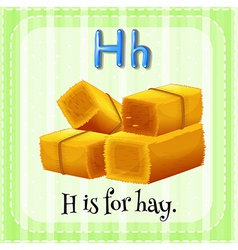 A letter H for hay vector image