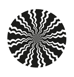 Abstract circular wavy line pattern vector