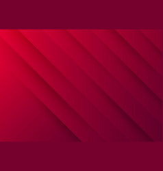 Abstract gradient red paper cut tech design vector