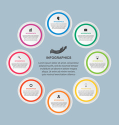abstract infographic for business presentations vector image