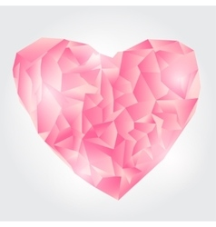 Abstract Pink Polygonal heart vector