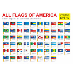 All flags america vector