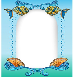 An empty template with the sea creatures vector