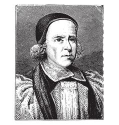 archbishop william sancroft vintage vector image