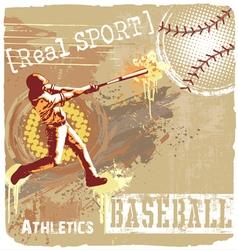 Baseball batter up vector