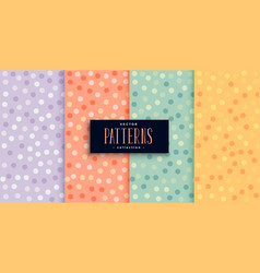 beautiful circles patterns set in many colors vector image