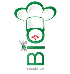 Bio symbol restaurant icon vector