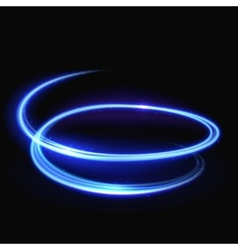 Blue light whirlpool luminous swirling vector image