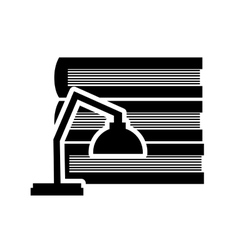 Books and lamp icon vector image
