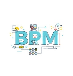 BPM Business Process Management word vector